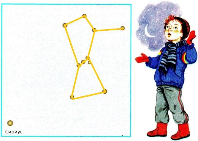Фрагмент созвездия Орион