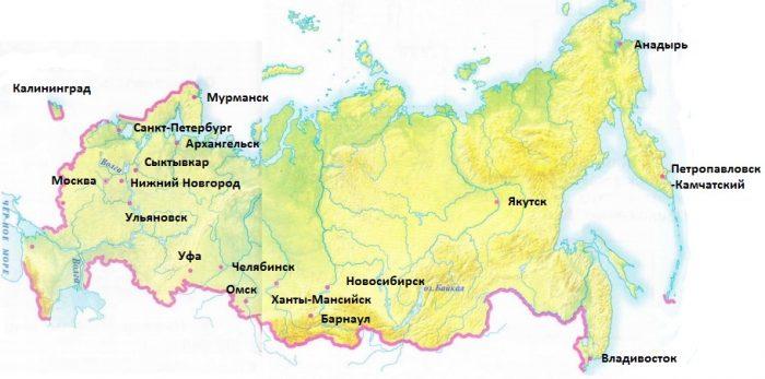 Плешаков домашнее задание россии на карте
