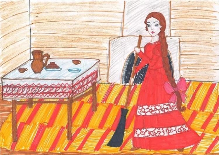 Рисунок к сказке о мертвой царевне