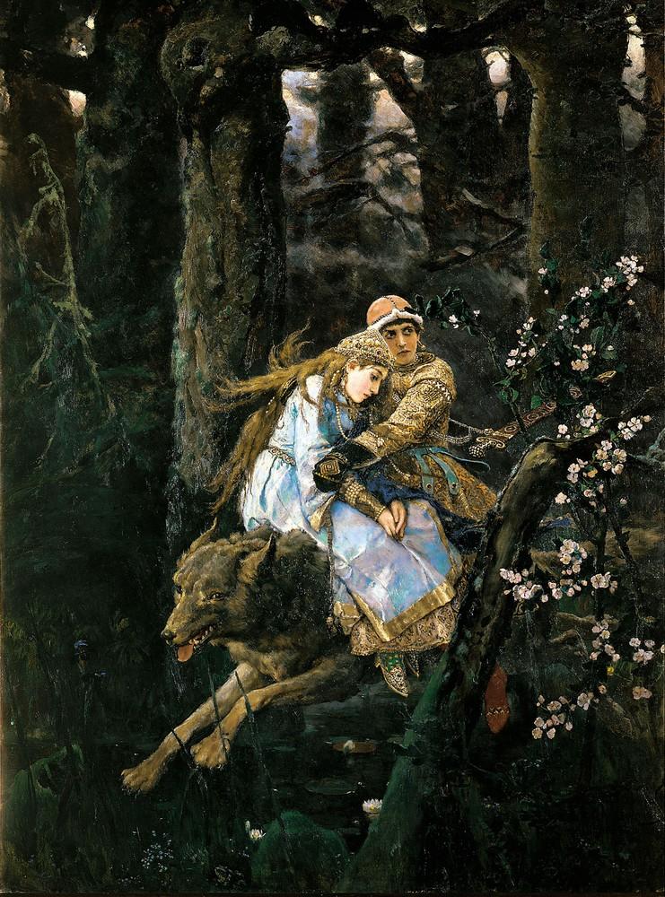 Картина Васнецова - Иван-царевич на Сером Волке - 1889