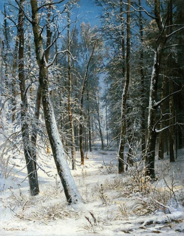 Шишкин - Зима в лесу