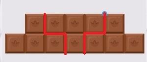Поделённая шоколадка