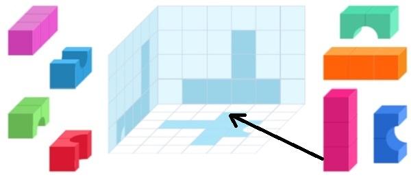 Башня из цветных кубиков (шаг 2)