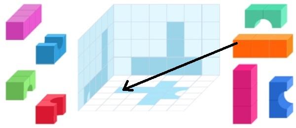 Башня из цветных кубиков (шаг 3)