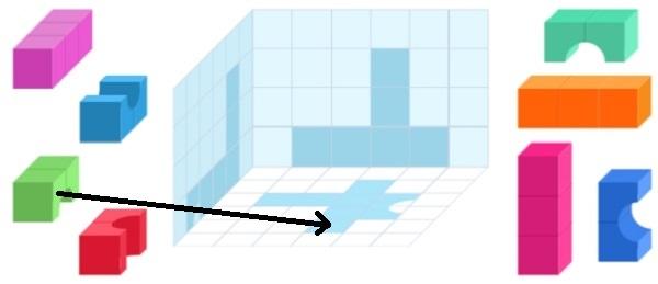 Башня из цветных кубиков (шаг 4)