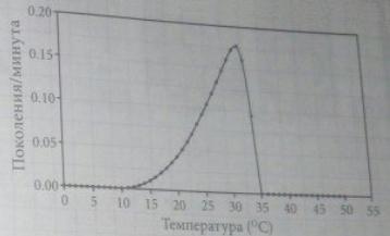 Зависимость скорости размножения бактерий от температуры