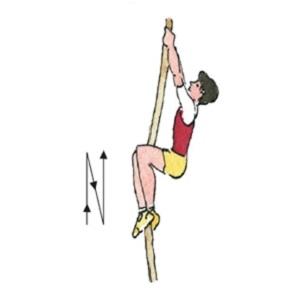 Подтягивание и опускание ног в висе на канате