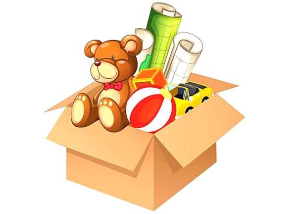 Игрушки в коробке