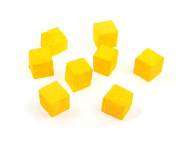 8 желтых кубиков в ряду