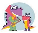 Динозаврик Дино с бабушкой