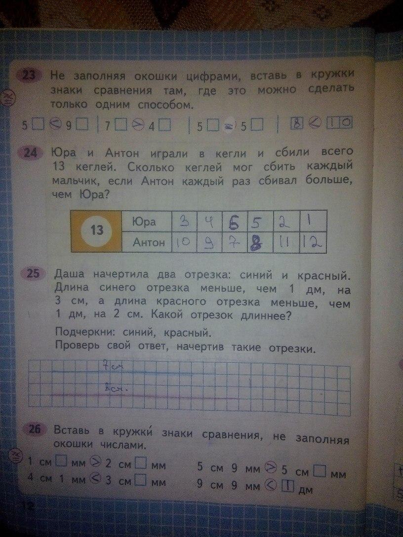 ГДЗ по математике 2 Моро 1 часть
