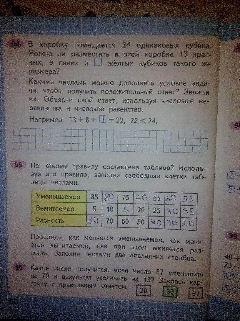 ГДЗ рабочая тетрадь 2 класс Моро Волкова