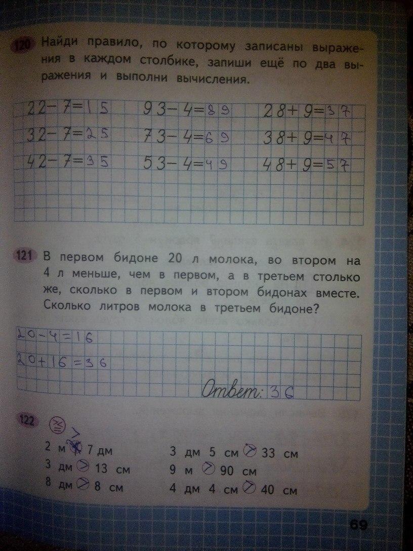 Математика рабочая тетрадь 2 класс Моро Волкова