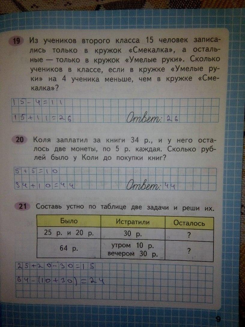 гдз по математике рабочая тетрадь 2 часть 2 класс канакина решебник