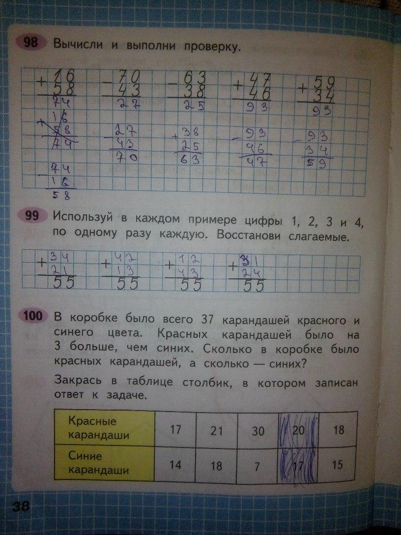 ГДЗ математика 2 класс Моро раб тетр