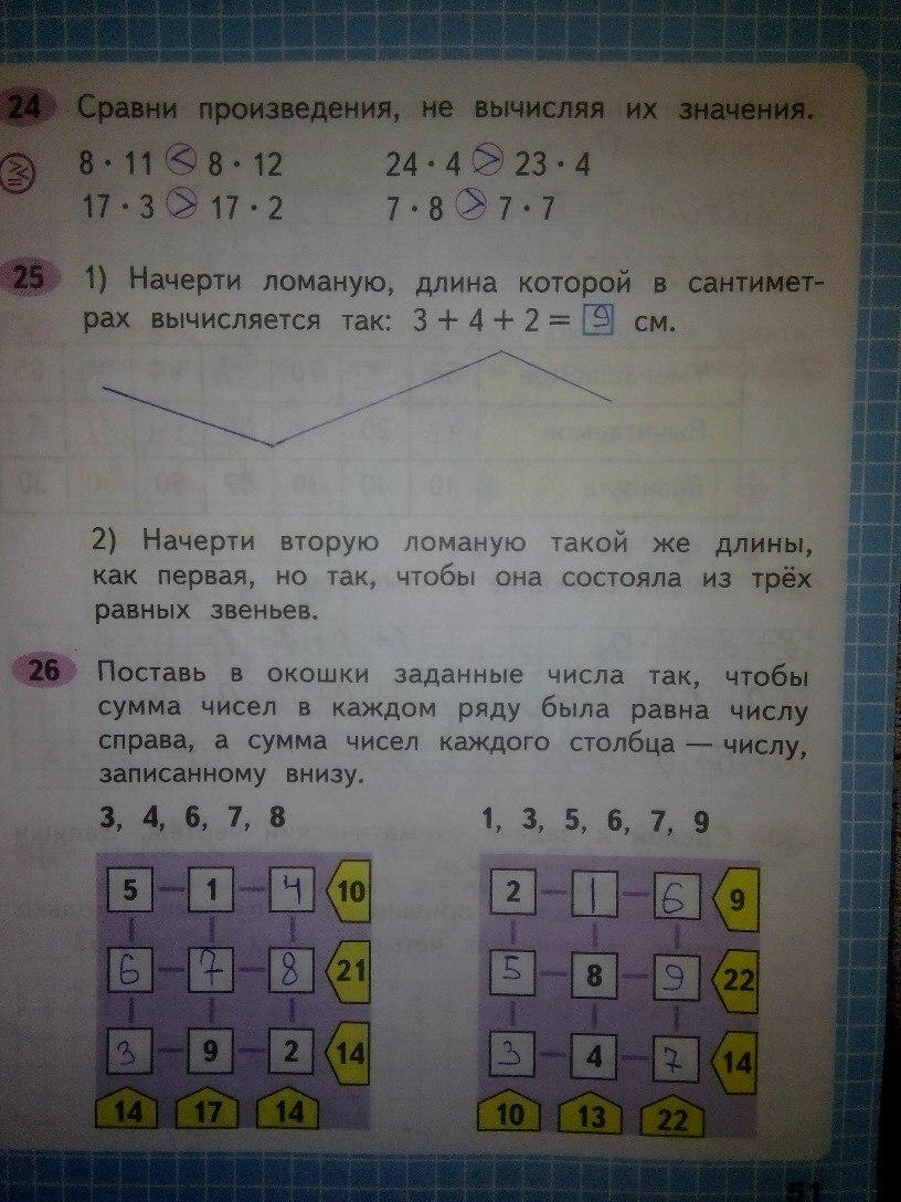 Домашнее задание по математике 2 класс Моро