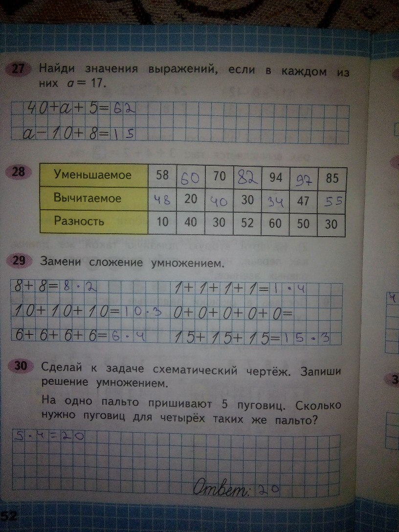 Домашнее задание математика Моро 2 класс тетрадь