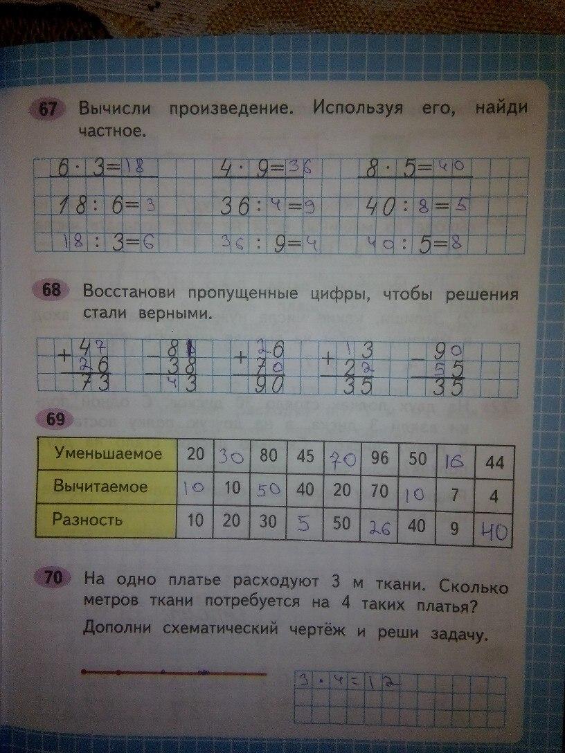 ГДЗ математика 2 класс Моро ст 65