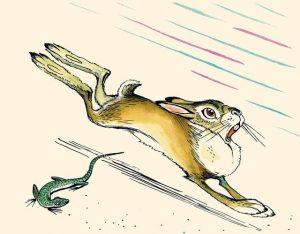 Сказка про храброго зайца с картинками