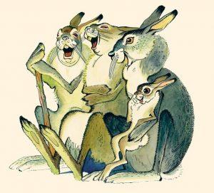 Сказка про храброго зайца длинные уши