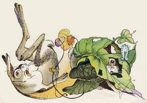 Рисунки к сказке про храброго зайца Вениамина Лосина