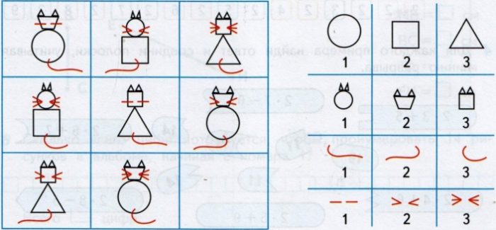 Пропущенная фигура - кошка