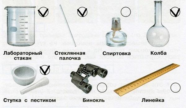 Оборудование для опыта