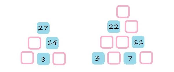 Числовые пирамиды - 2 класс