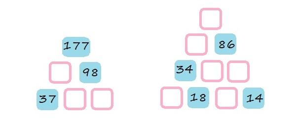 Числовые пирамиды - 4 класс