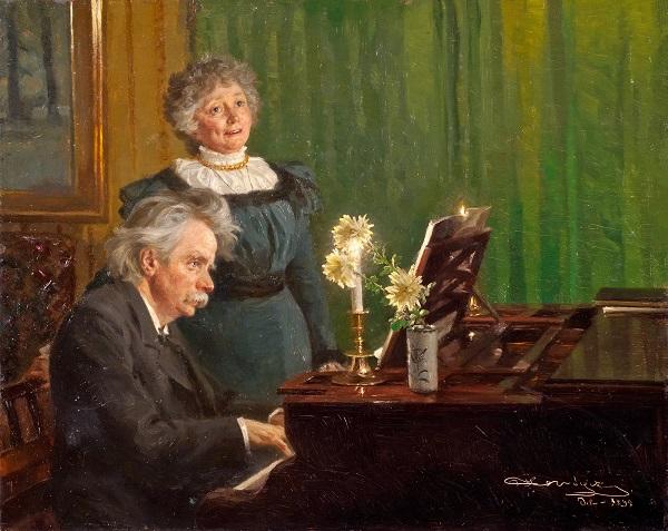 Эдвард Григ с женой