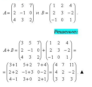 Сложение 2-х матриц