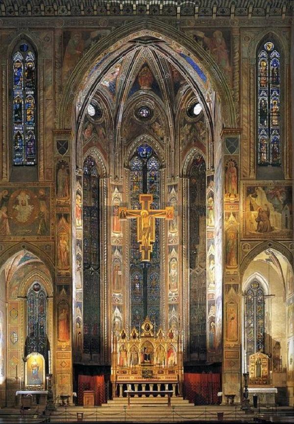 Фрески в церкви Святого Креста во Флоренции