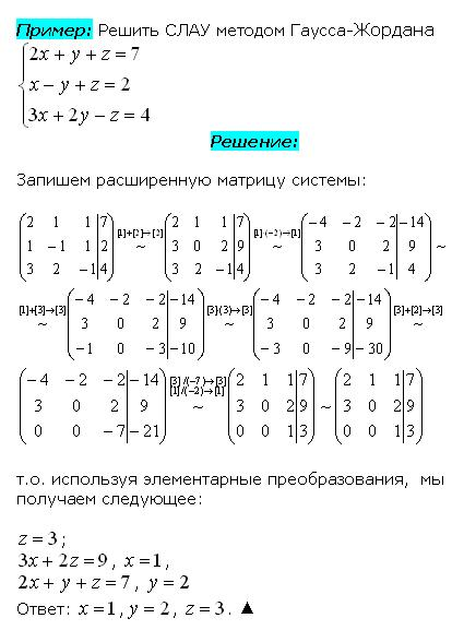 Метод Жордана-Гаусса