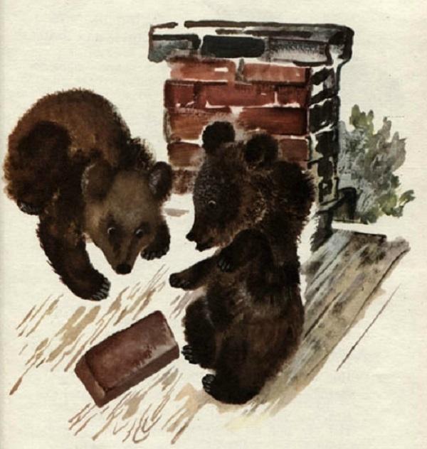Медвежата на крыше