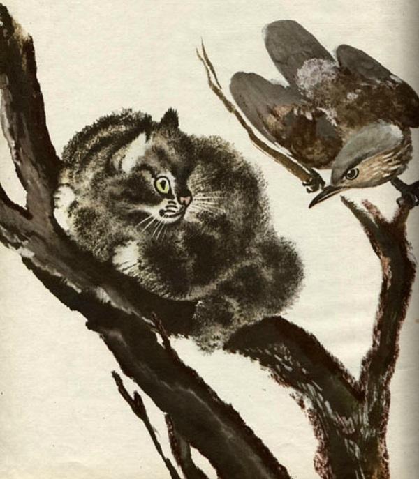 Тюпа на дереве