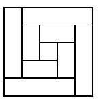 Квадрат из прямоугольников