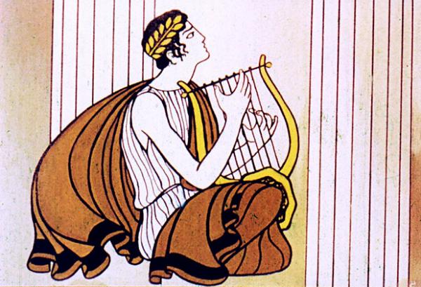 Орфей играет на кифаре