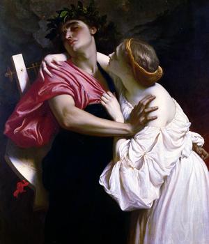 Орфей и Эвридика — Фредерик Лейтон,1864
