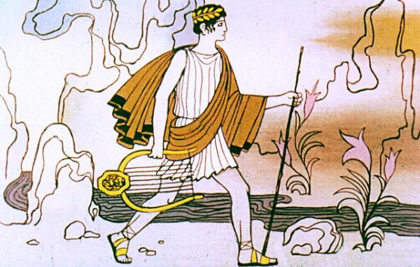 Орфей решил отправиться в подземное царство