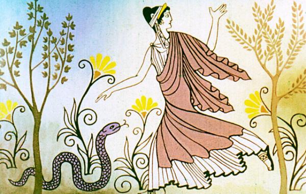 Эвридика бросилась к Орфею