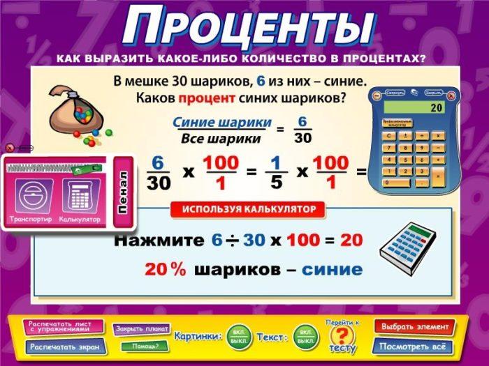 """Шпаргалка по теме """"Проценты"""""""