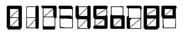 Цифры без диагональных черточек