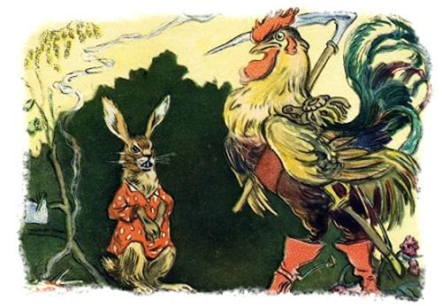Заяц и петух