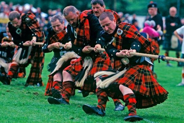 Высокогорные игры в Шотландии