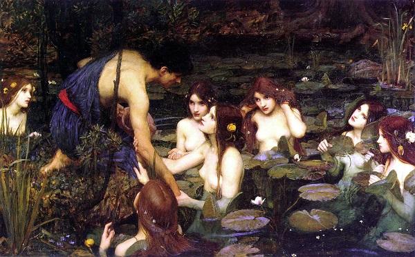 Гилас и нимфы - Джон Уильям Уотерхаус, 1896 г.