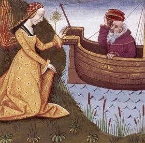 Гипсипила спасает отца (средневековая миниатюра)