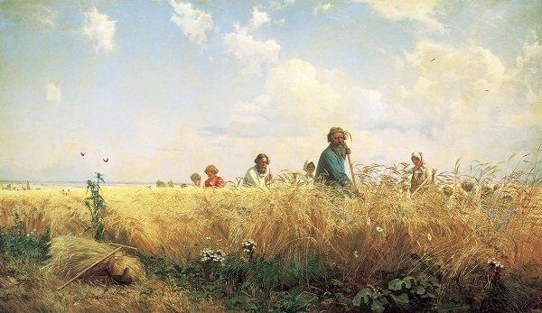 Картина Страдная пора - Мясоедов Григорий Григорьевич