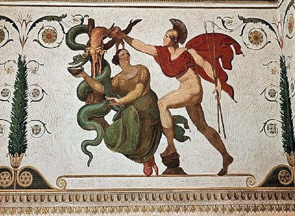 Медея помогает Ясону похитить Золотое Руно