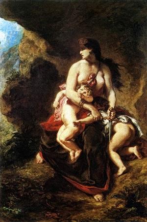 Медея собирается убить своих детей - Фердинанд Делакруа - 1838