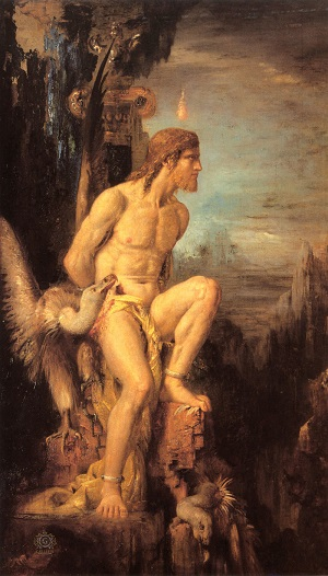 Прометей, орёл, клюющий печень - Густав Моро - 1868